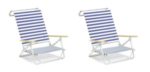 Mini-Sun Chaise Chairs by Telescope - Set of 2