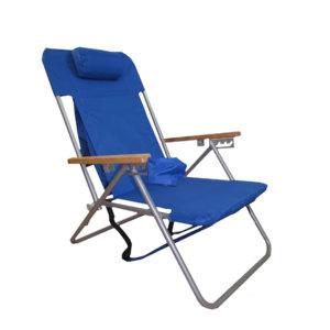 Hi-Back Steel Backpack Chair by Rio Beach