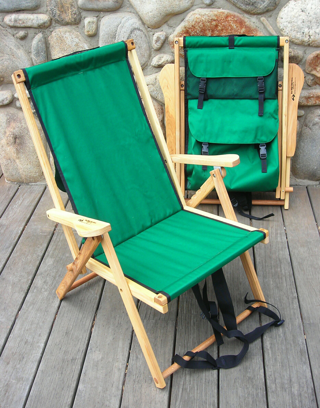 Wooden Backpack Chair by Blue Ridge Chair