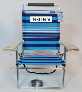 IMPRINTED JGR Deluxe MID-Height Oversize Beach Chair