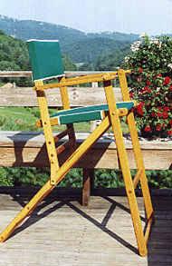 Oak Folding High Deck Chair