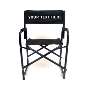 EMBROIDERED Personalized All Aluminum 18 inch Directors Chair
