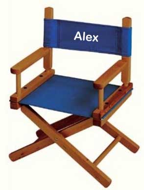 EMBROIDERED Personalized Toddler Directors Chair by Gold Medal