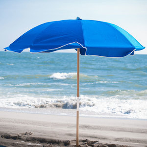 Frankford Umbrella 7.5 ft. Fiberglass Rib Commercial Beach Umbrella with Wood Pole