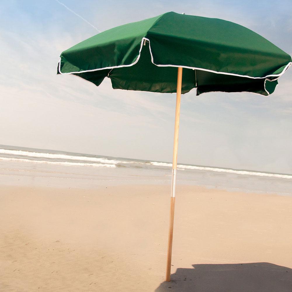 Frankford Umbrella Shade Star 6.5 ft. Wood Beach Umbrella