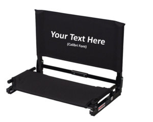 IMPRINTED Personalized NEW Deluxe Wide Stadium Chair Gamechanger Bleacher Seat with Optional Arms