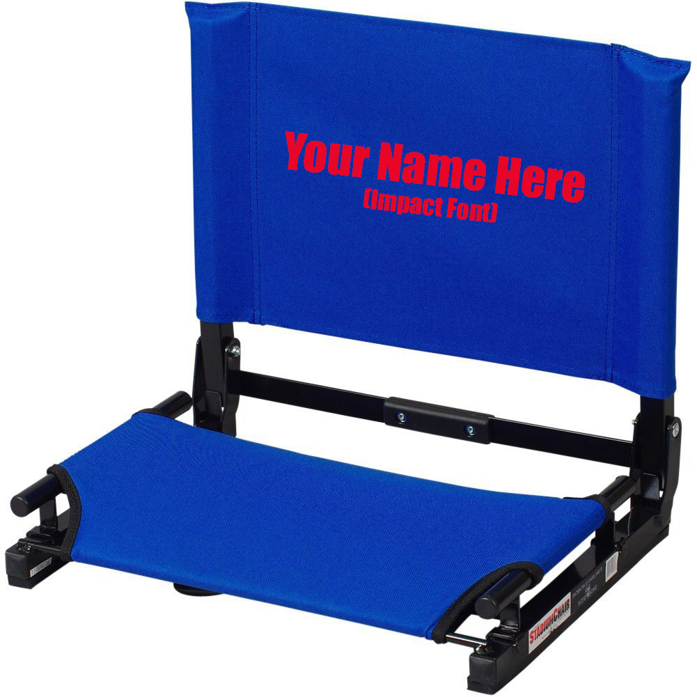imprinted personalized new stadium chair gamechanger bleacher seat