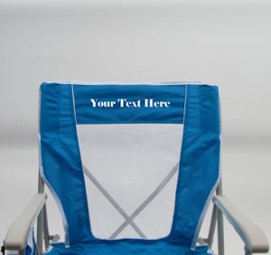 IMPRINTED Personalized Captain's Chair by GCI Waterside