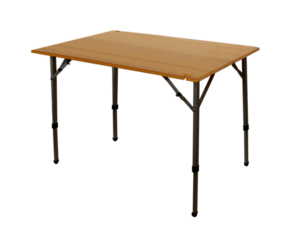 The Kanpai Bamboo Adjustable Height Table by Travel Chair
