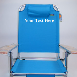 IMPRINTED Personalized 3 Position Big Fish Hi-Seat Aluminum Chair by JGR Copa
