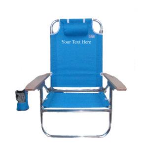 Imprinted High Boy Lay Flat Beach Chair by RIO Beach