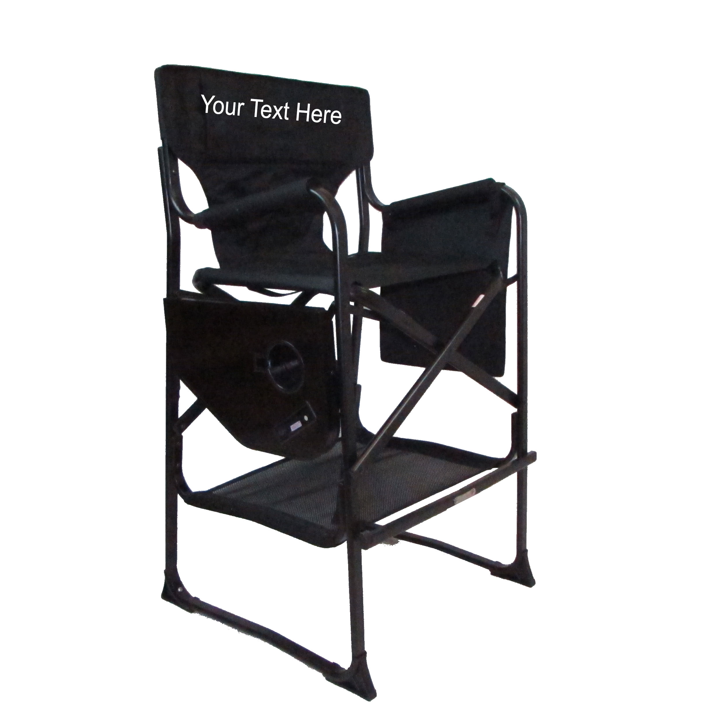 EMBROIDERED Personalized Professional Tall Directors Chair By Pacific Imports