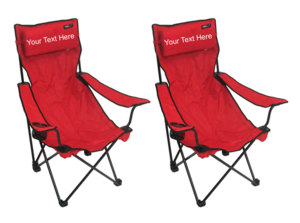 IMPRINTED Personalized Classic Bubba Hi-Back Quad Chair 2 Pack