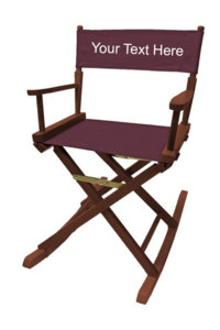 IMPRINTED Personalized 18 inch Table Height Rocking Directors Chair