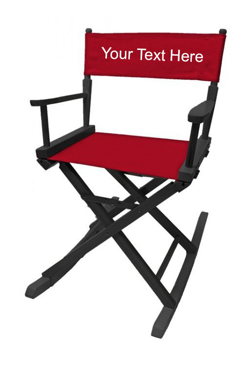 EMBROIDERED Personalized 18 inch Table Height Rocking Directors Chair