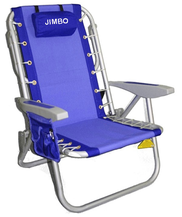 IMPRINTED Rio Deluxe Aluminum Lay-Flat Backpack Chair w/Cooler