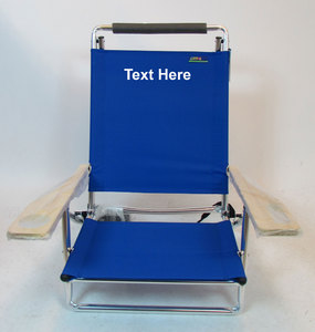 IMPRINTED Personalized Deluxe Lay Flat 5 Position Beach Chair