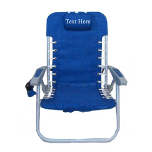IMPRINTED Personalized RIO 4 Position Deluxe Lace-up Aluminum Backpack Chair