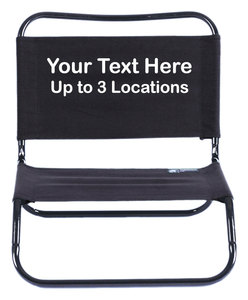 IMPRINTED Personalized Original TravelChair Basic Low Chair - Cotton Duck Fabric
