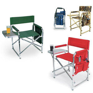 Sports Director Chair With Side Table and Pocket by Picnic Time