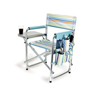 St. Tropez Sports Director Chair With Table and Pocket by Picnic Time