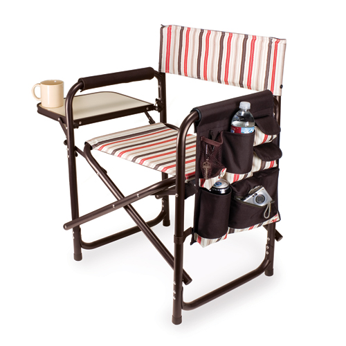 Moka Sports Director Chair With Side Table and Pocket by Picnic Time