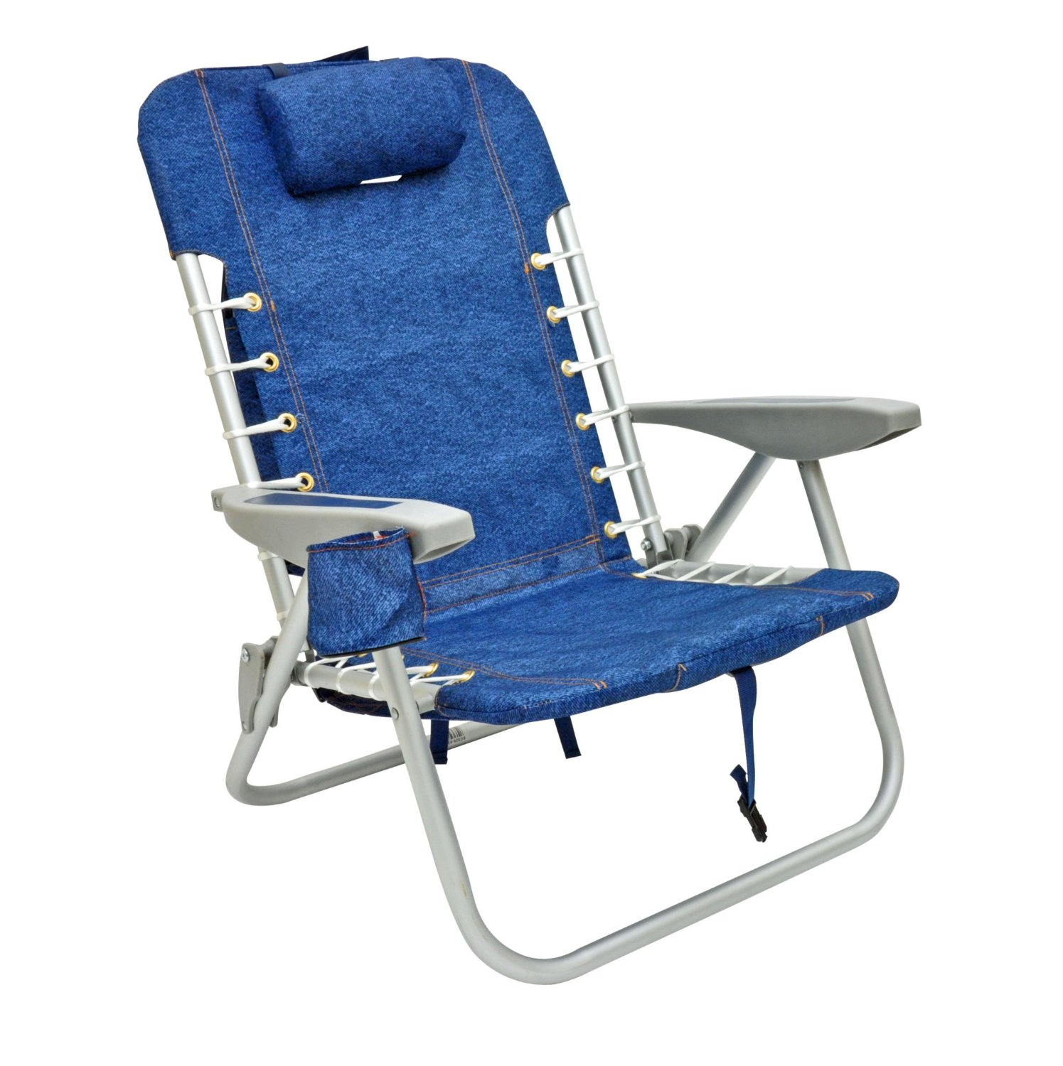 RIO 4 Position Deluxe Lace up Aluminum Backpack Chair