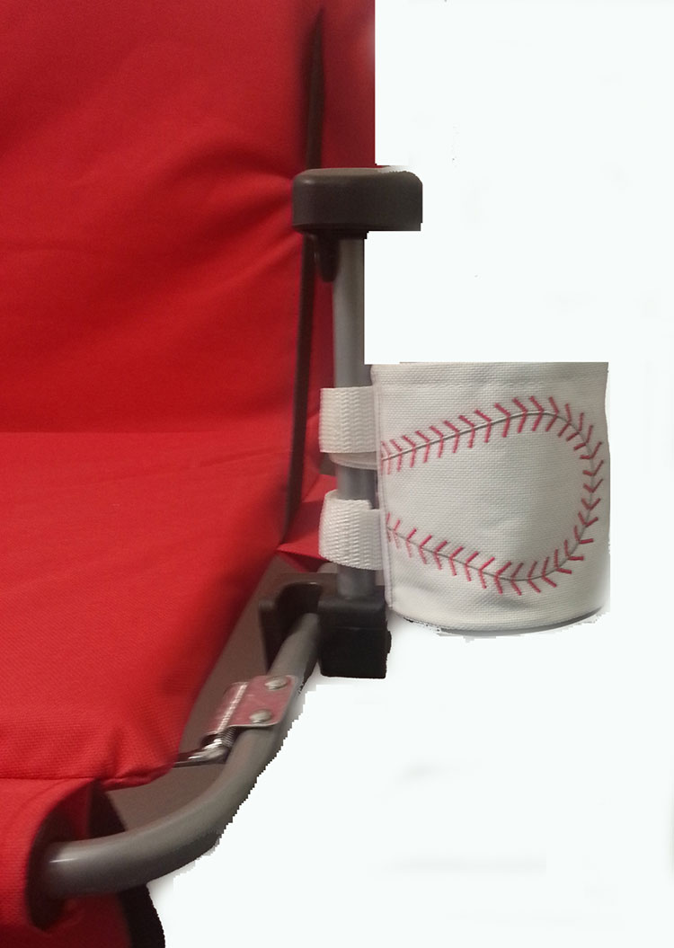 Baseball Hook and Loop Attached Cupholder