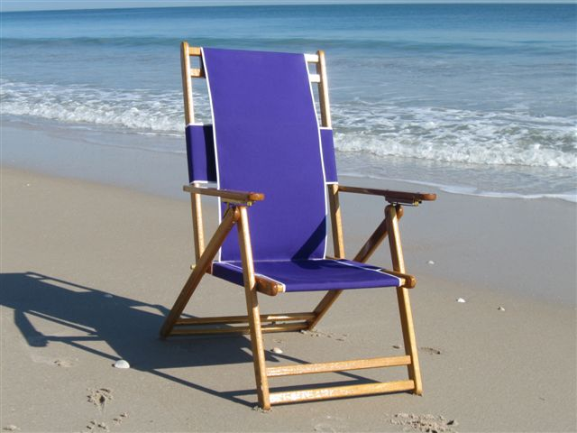 Oak Folding Beach Chair