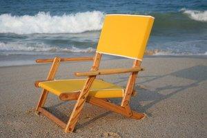 Oak Folding Mini Sand Chair