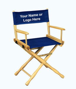 EMBROIDERED Personalized 18 inch Table Height CLASSIC Directors Chair