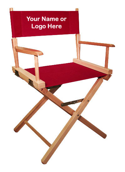 IMPRINTED Personalized 18 inch Table Height COMMERCIAL Directors Chair