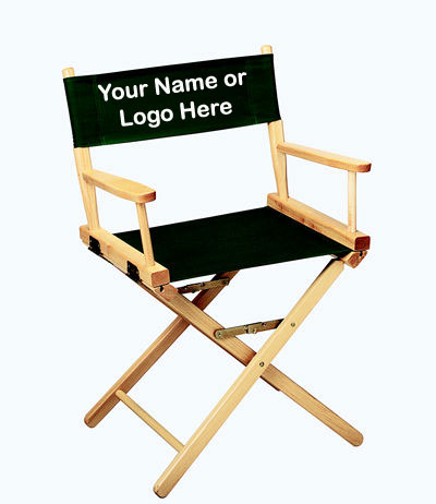 EMBROIDERED Personalized 18 inch Table Height CONTEMPORARY Directors Chair