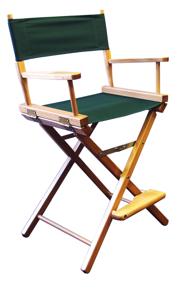 Gold Medal 24 inch Counter Height CONTEMPORARY Directors Chair