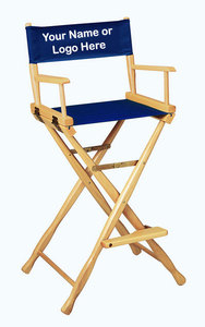 EMBROIDERED Personalized 30 inch Bar Height CLASSIC Directors Chair