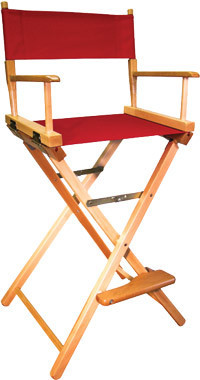 Gold Medal 30 inch Bar Height COMMERCIAL Directors Chair