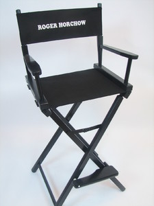 EMBROIDERED Personalized 30 inch Bar Height CONTEMPORARY Directors Chair