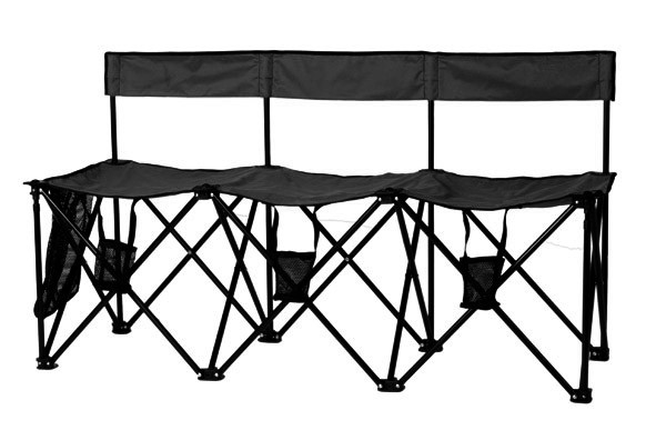 TravelBench Portable 3 Seater Bench w/Back